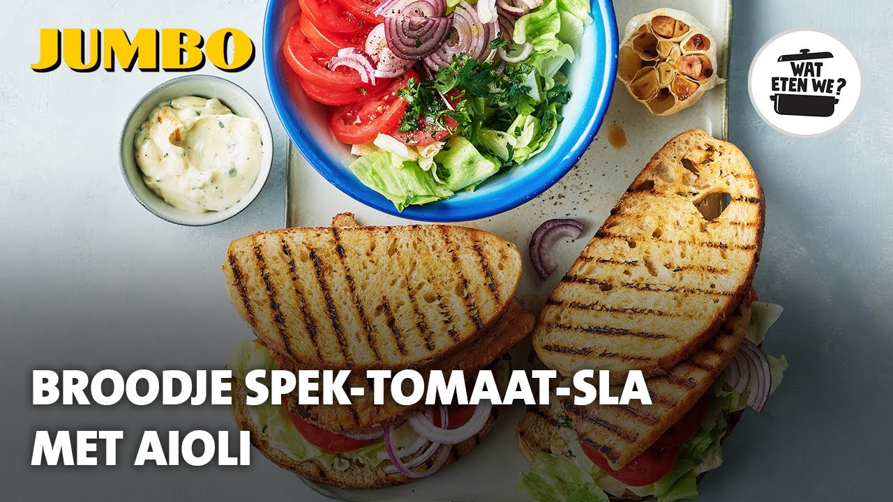 Wat eten we? Broodje spek-sla-tomaat met aioli