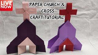 Paper Craft Mini Church \u0026 Cross Tutorial |  LIVE [🔴]