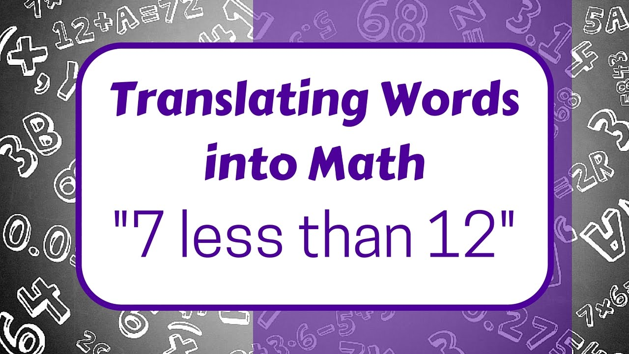 Translating Words into Math | Video