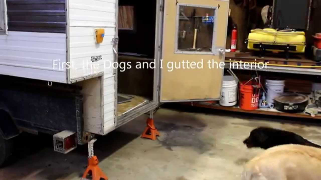 Remodeling an Old Truck Camper - YouTube