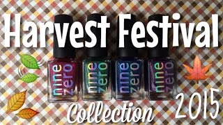 Nine Zero Lacquer Fall 2015 Harvest Festival Collection | Nail Polish Pursuit