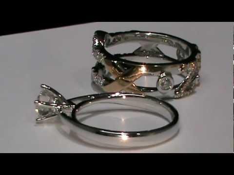 18k White Rose Gold Custom Design Wedding Ring Enhancer Youtube
