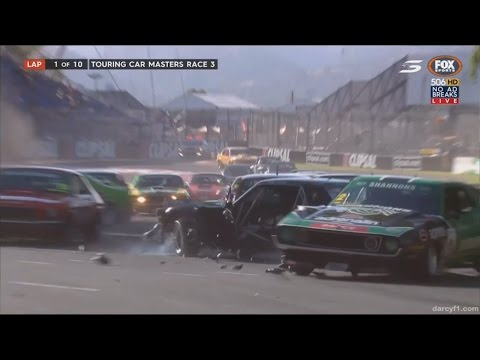 Adelaide (Clipsal 500) 2017 All Crashes Compilation