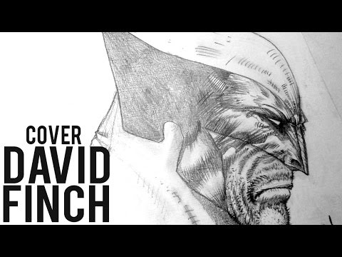 David Finch drawing Wolverine Cover