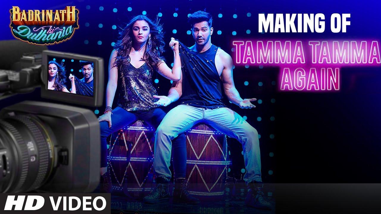 Varun Dhawan And Alia Bhatt Making of Tamma Tamma ...