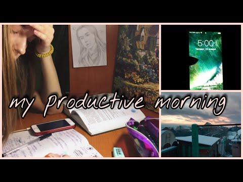 каждый день встаю в 5 утра/моё продуктивное утро