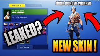 "*NEW* Fortnite: LEAKED ""GRILL SERGEANT"" SHOWCASE! (In-Game Early Showcase)"
