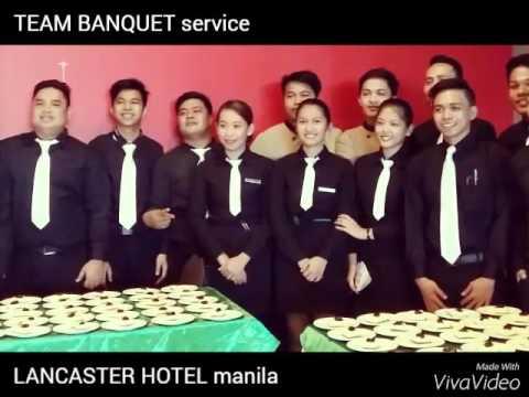 TEAM BANQUET service  Lancaster Hotel manila