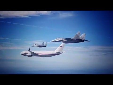 Download Migovi 29 u pratnji Ministra Šojgua i sletanje aviona IL-96 na aerodrom Nikola Tesla