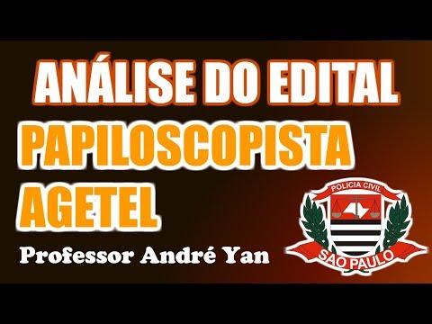 ANÁLISE DO EDITAL - PAPILOSCOPISTA E AGENTE DE TELECOMUNICAÇÕES - PC-SP 2018