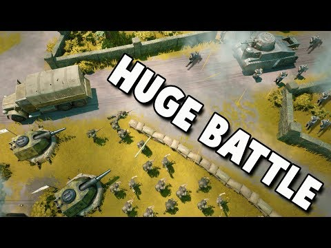 HUGE INFANTRY BATTLE!  Pegasus Bridge Attack (Foxhole New Update Gameplay Part 2)
