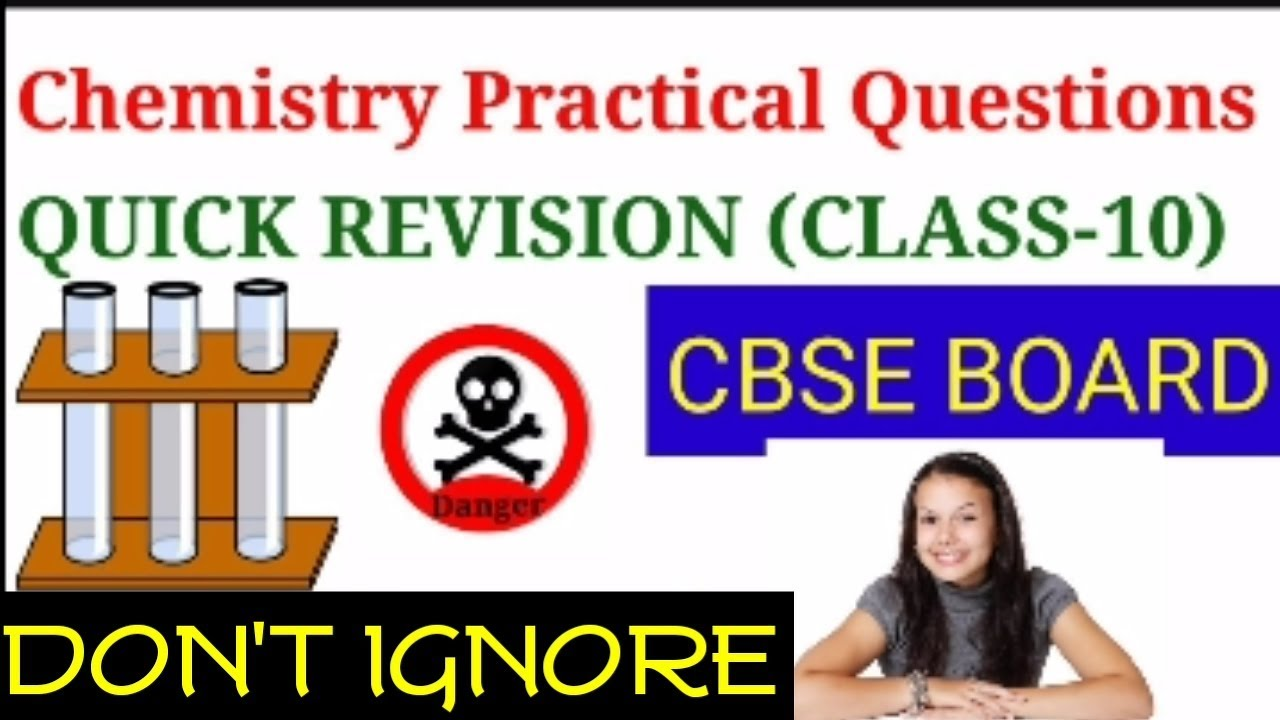 Chemistry Practical questions ,revision class10 Science cbse (Hindi)