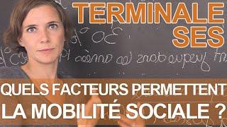 Quels sont les facteurs qui permettent la mobilite sociale ? - SES - Terminale - Les Bons Profs
