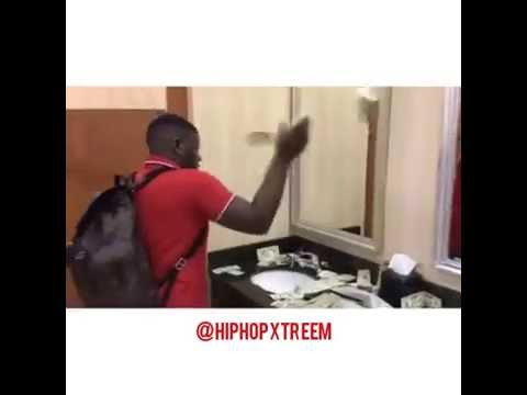 Blac Youngsta throwing money in a bathroom (2016) | #HipHopCommittee