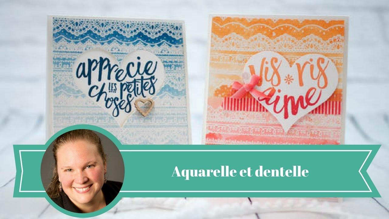 Comment Peindre De La Dentelle aquarelle et dentelles