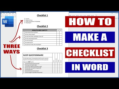 How to Make a Checklist in Word | Microsoft Word Tutorials