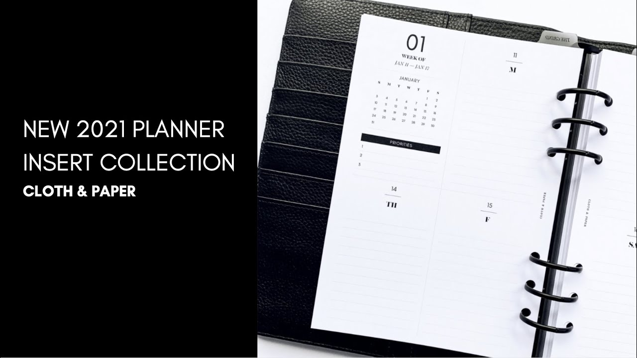 2021 Planner Inserts Coming Soon  | Cloth & Paper
