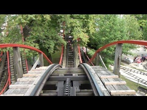 Comet Wooden Roller Coaster POV Waldameer Park Erie PA