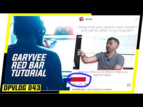 How to Create ➚➚ DOPE INSTAGRAM VIDEO ➚➚ Like ➡ GARYVEE ➡ Red Progress Bar (APRIL 2018) DPVLOG 043