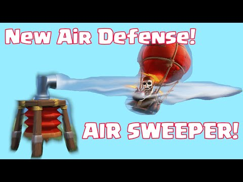 Clash Of Clans Air Sweeper Defense New Anti Air Defense | Clash Of Clans Update 2015 Sneak Peek