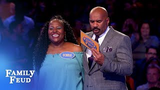 Thompsons take a TUMBLE in Fast Money! | Family Feud