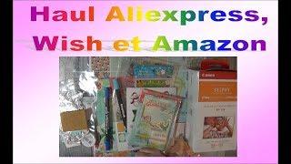 Haul Aliexpress, Wish et Amazon : tampons, die cut, dies etc...
