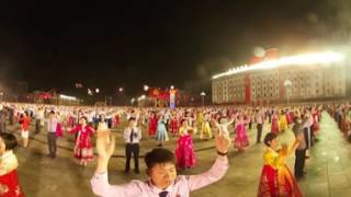 North Korean national dance in 360
