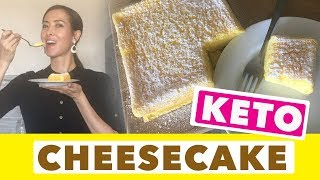 How to Bake a KETO Cheesecake | Recipe for a Japanese-style Fluffy Cake - Diabetic-friendly