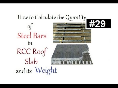 How To Calculate The Quany Of Steel Bars In Rcc Roof Slab And Its Weight Urdu Hindi