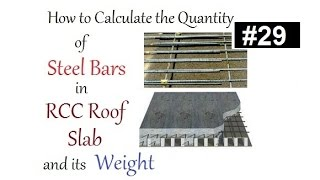 How to calculate the quantity of steel bars in RCC roof slab and its weight in Urdu/Hindi