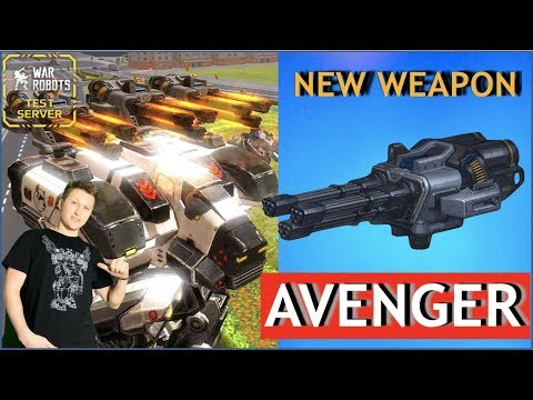 War Robots - Avenger - новое пулеметное оружие!!!