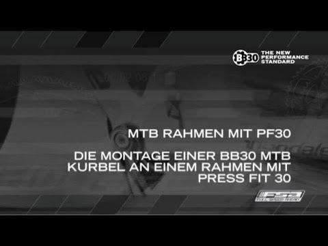 Montage einer BB30 MTB Kurbel an einem Rahmen mit Press Fit 30 -FSA MTB