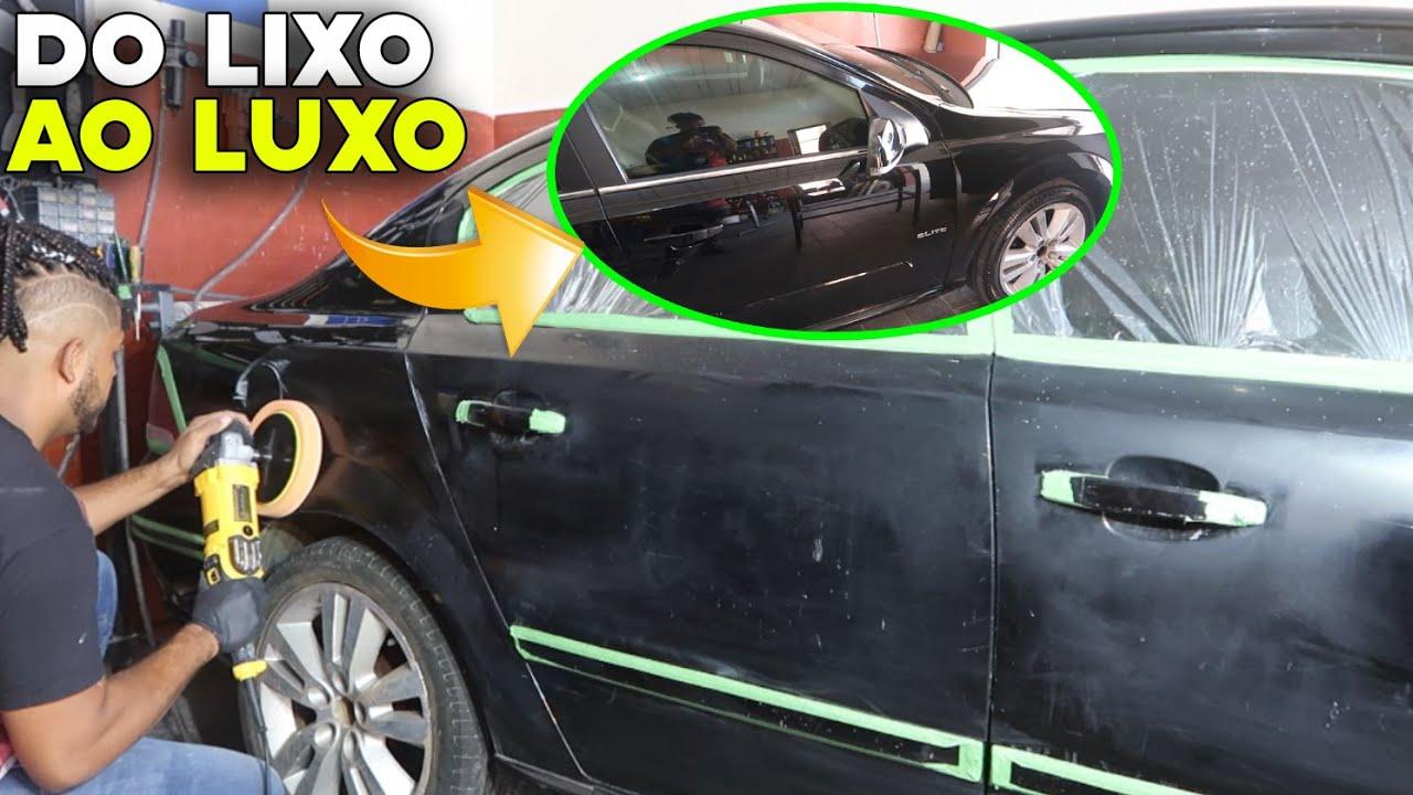 DO LIXO AO LUXO - TIRANDO RISCO DO CARRO POLIMENTO AUTOMOTIVO AVANÇADO FICOU ESPELHADO!!!
