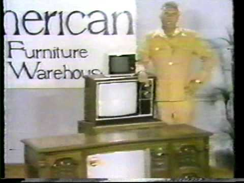 1978 American Furniture Warehouse Magnavox TV sale commercial ...