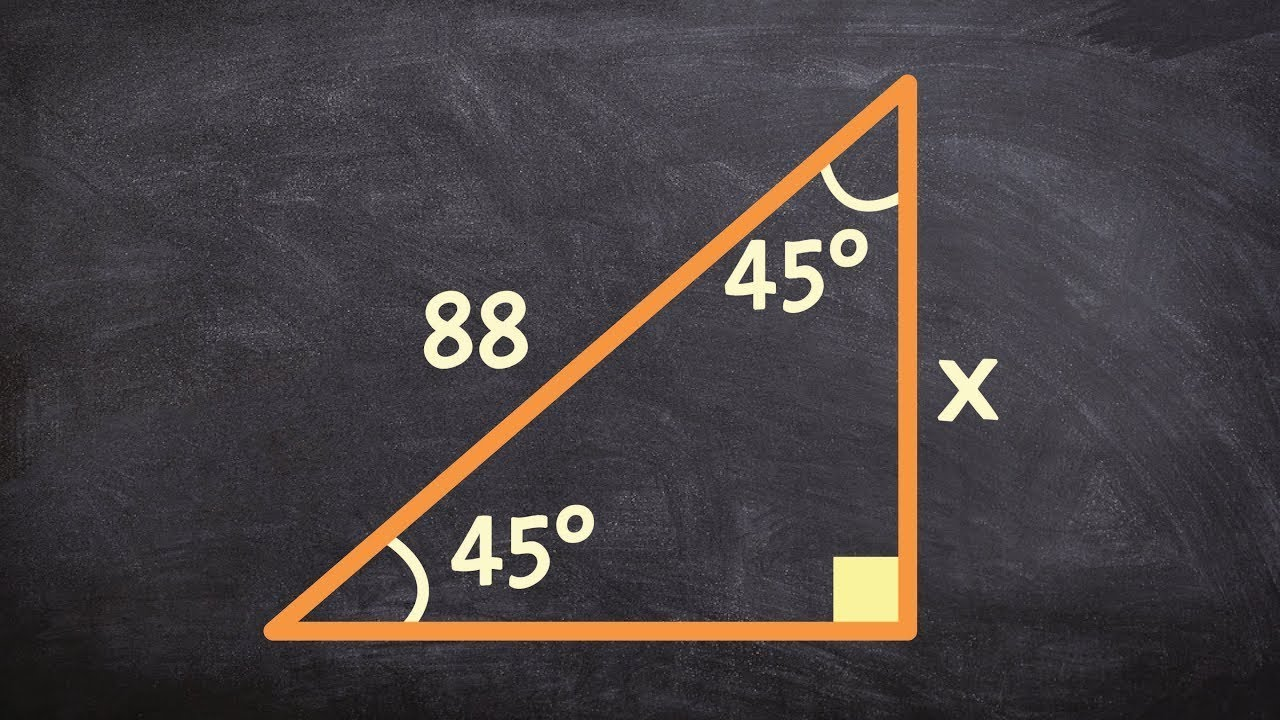 Geometry  How To Determine The Legs Of A 45 45 90 Triangle When Given The  Hypotenuse