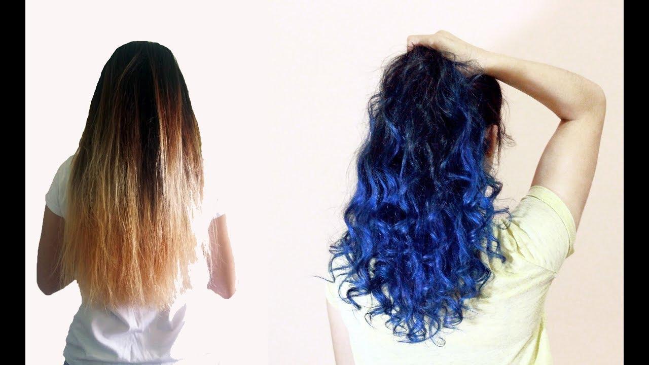 Evde Saç Boyama Mavi Saç Nasıl Yapılır Youtube