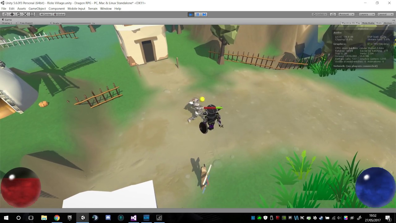 Starting an RPG game diablo-like game in unity 5