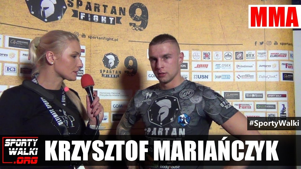 Krzysztof Mariańczyk po Spartan Fight 9