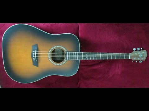 washburn wd7s atbm acoustic guitar unboxing youtube. Black Bedroom Furniture Sets. Home Design Ideas