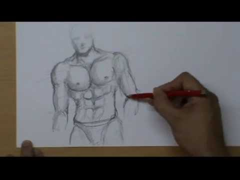 Youtube Busto Uomo Come Un Muscoloso Il Di Disegnare H2DI9WE