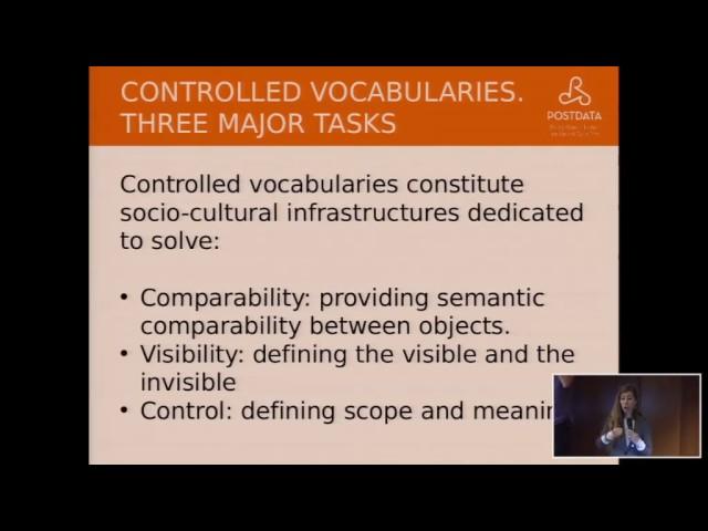 The role of Controlled Vocabularies  CV  in digital environments