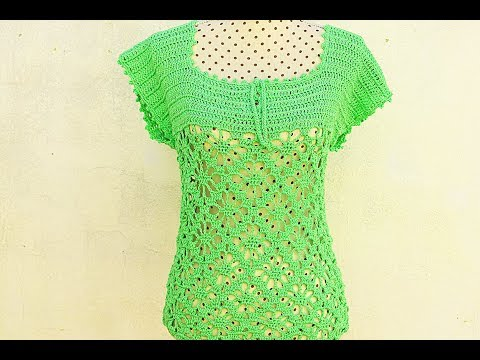 Crochet Summer Blouse #crochet #crochetblouse