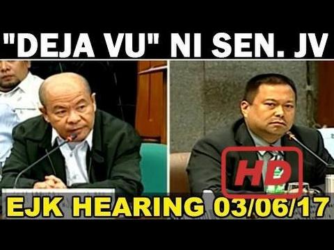 "Nag ""DEJA VU"" Si Senator JV Ejercito Sa Pagiimbestiga Kay Lascanas - SENATE HEARING 03/06/17"
