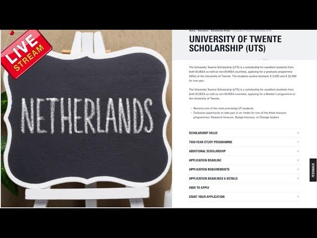 University of Twente Scholarships (UTS) (2022 Netherlands scholarships for international students)