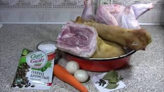 Холодец - рецепт приготовления