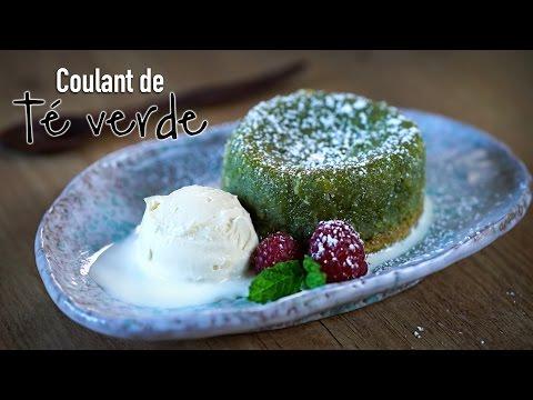 Coulant o Volcán de te verde - Matcha Green Tea Lava Cake Recipe