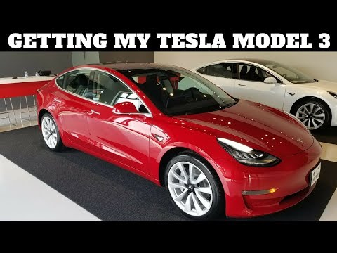 PICKING UP MY TESLA MODEL 3!