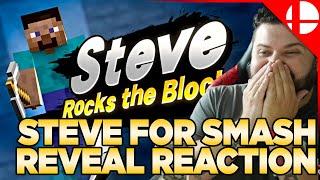 Steve for Smash Reveal Reaction - Smash Ultimate x Minecraft
