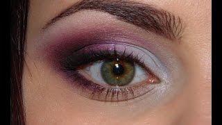 Макияж для зелёных глаз в розово-фиолетовой гамме(Розово-фиолетовый макияж отлично подойдёт на выпускной на свадьбу или на вечер) ✓instagram https://instagram.com/ludmilaflorenc..., 2014-10-10T10:33:48.000Z)