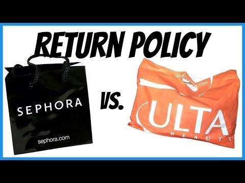 Return Policy: Sephora vs. Ulta